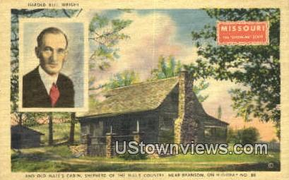 Harold Bell Wright, Old Matt's Cabin - Branson, Missouri MO Postcard