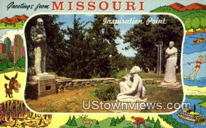 Inspiration Point - Branson, Missouri MO Postcard