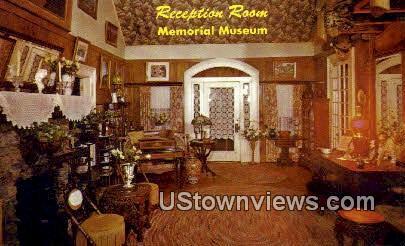 Reception Room, Memorial Museum - Branson, Missouri MO Postcard