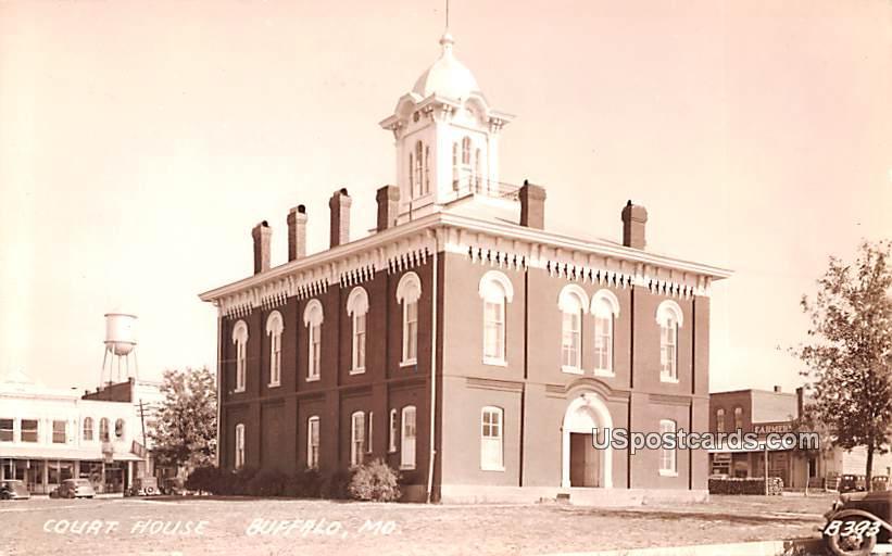 Court House - Buffalo, Missouri MO Postcard