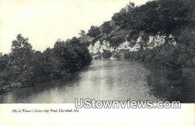 Mark Twain's Swimming Pool - Hannibal, Missouri MO Postcard