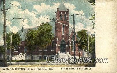 South Side Christian Church - Hannibal, Missouri MO Postcard