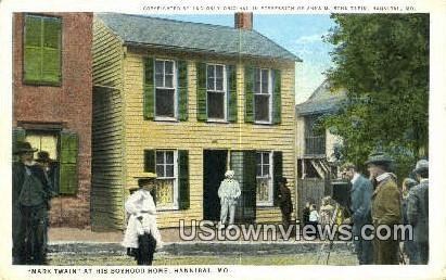 Mark Twain, Boyhood Home - Hannibal, Missouri MO Postcard