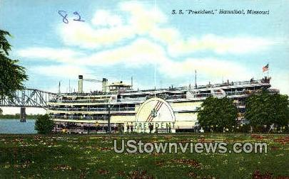 S.S. President - Hannibal, Missouri MO Postcard