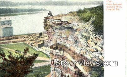 Lovers Leap, Mississippi River - Hannibal, Missouri MO Postcard