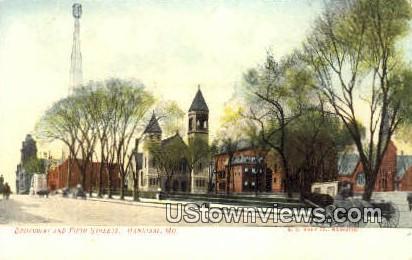 Broadway & Fifth St - Hannibal, Missouri MO Postcard