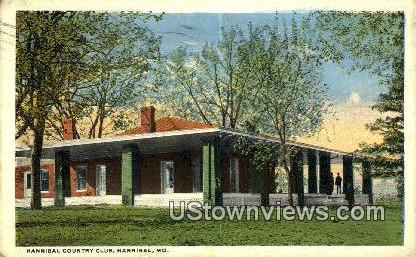Hannibal Country Club - Missouri MO Postcard