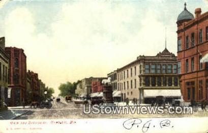 Main & Broadway - Hannibal, Missouri MO Postcard