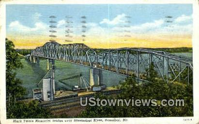 Mark Twin Memorial Bridge - Hannibal, Missouri MO Postcard