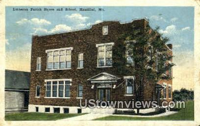 Lutheran Parish House & School - Hannibal, Missouri MO Postcard