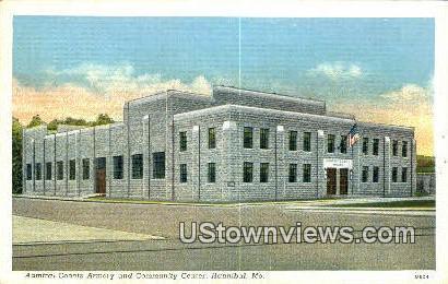 Admiral Coontz Armory & Community Center - Hannibal, Missouri MO Postcard