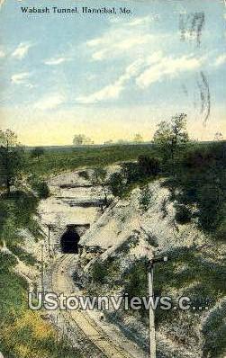 Wabash Tunnel - Hannibal, Missouri MO Postcard
