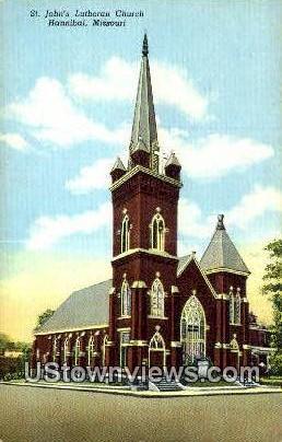 St. John's Lutheran Church - Hannibal, Missouri MO Postcard