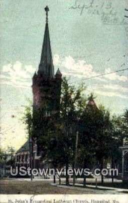 St. John's Evangelical Lutheran Church - Hannibal, Missouri MO Postcard