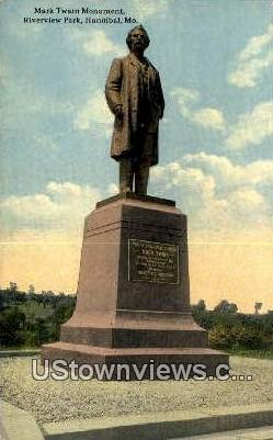Mark Twain Monument - Hannibal, Missouri MO Postcard