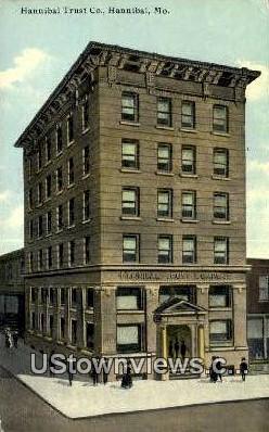 Hannibal Trust Co - Missouri MO Postcard