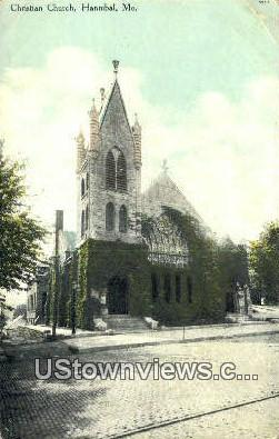 Christian Church - Hannibal, Missouri MO Postcard