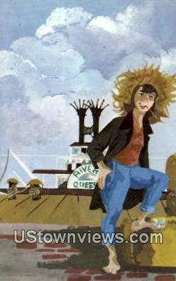 Huckleberry Finn - Hannibal, Missouri MO Postcard