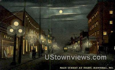 Main Street - Hannibal, Missouri MO Postcard