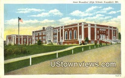 New Hannibal High School - Missouri MO Postcard