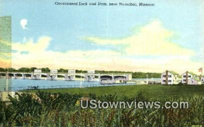 Government Lock & Dam - Hannibal, Missouri MO Postcard