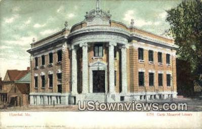 Garth Memorial Library 1758 - Hannibal, Missouri MO Postcard
