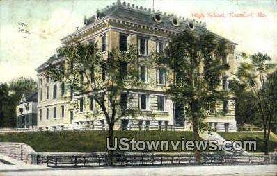 High School, Hannibal - Missouri MO Postcard