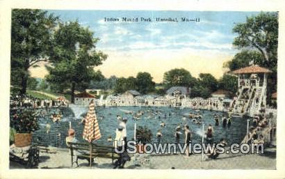 Indian Mound Park - Hannibal, Missouri MO Postcard