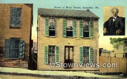 Home of Mark Twain - Hannibal, Missouri MO Postcard