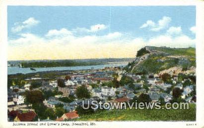 Jackson Island, Lovers Leap - Hannibal, Missouri MO Postcard