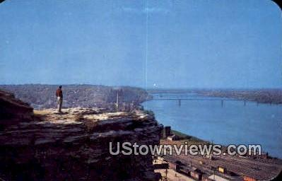 Lover's Leap - Hannibal, Missouri MO Postcard