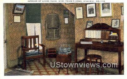 Mark Twain's Home - Hannibal, Missouri MO Postcard