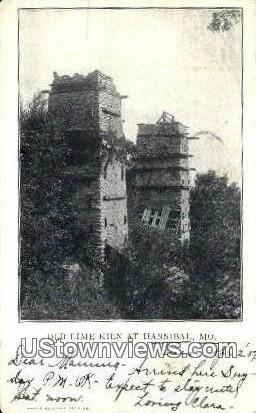Old Lime Kilns - Hannibal, Missouri MO Postcard
