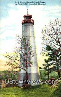 Mark Twain Memorial Lighthouse - Hannibal, Missouri MO Postcard