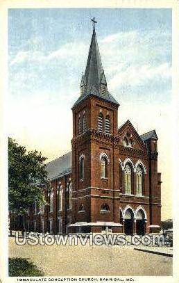 Immaculate Conception Church - Hannibal, Missouri MO Postcard