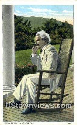 Mark Twain - Hannibal, Missouri MO Postcard