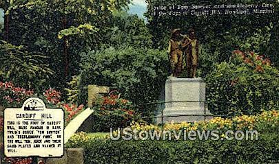 Statue of Tom Sawyer & Huckleberry Finn - Hannibal, Missouri MO Postcard
