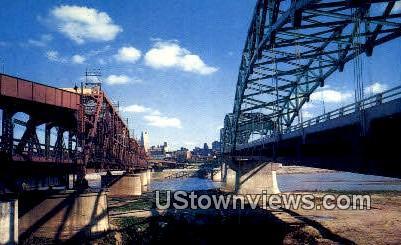 Hannibal Bridge, 1869 - Missouri MO Postcard