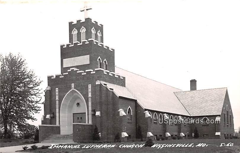 Immanuel Lutheran Church - Higginsville, Missouri MO Postcard