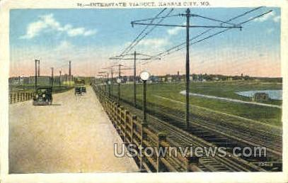 Interstate Viaduct - Kansas City, Missouri MO Postcard