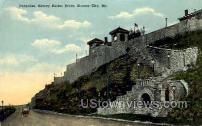Palisades, Kersey Coates Dr. - Kansas City, Missouri MO Postcard