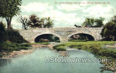 Nelson Bridge - Kansas City, Missouri MO Postcard