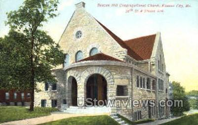 Beacon Hill Congregational Church - Kansas City, Missouri MO Postcard