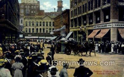 Famous Petticoat Lane - Kansas City, Missouri MO Postcard