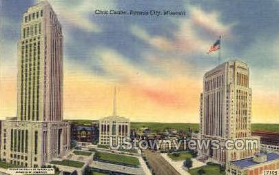 Civic Center - Kansas City, Missouri MO Postcard