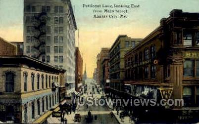 Petticoat Lane from Main St. - Kansas City, Missouri MO Postcard