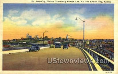 Inter-City Viaduct - Kansas City, Missouri MO Postcard