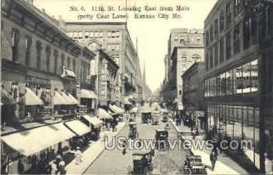 11th St. - Kansas City, Missouri MO Postcard