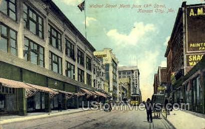 Walnut St. - Kansas City, Missouri MO Postcard