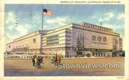 Kansas City Municipal Auditorium - Missouri MO Postcard